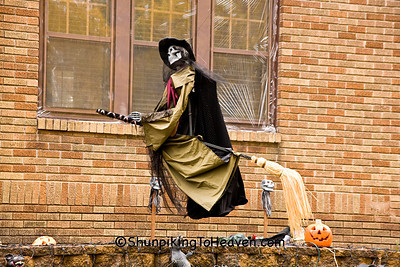 Witch Skeleton on Broomstick, Columbia County, Wisconsin