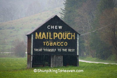 Mail Pouch Tobacco Barn in the Rain, Monroe County, Ohio