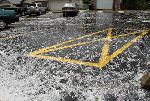 Hail in the Parking Lot