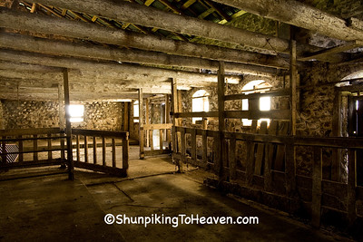 Stable Area Inside Historic Chase Stone Barn, Oconto County, Wisconsin