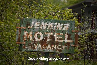 Rusty Old Motel Sign, Izard County, Arkansas