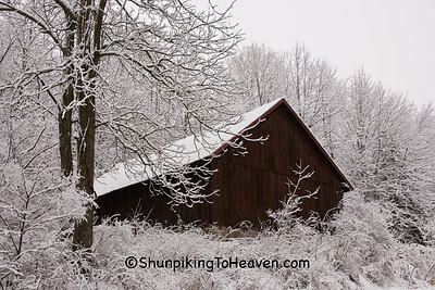 Barn in Winter Wonderland, Dane County, Wisconsin