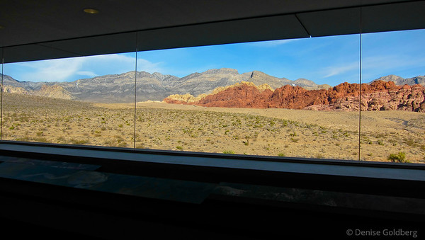 window at the visitor center, Red Rock Canyon