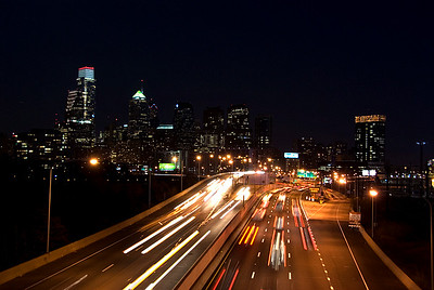 Schuylkill Expressway in Philadelphia at night