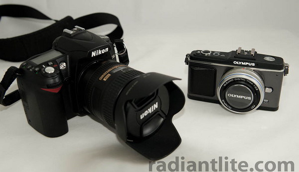 Olympus E-P2 compare to Nikon D90