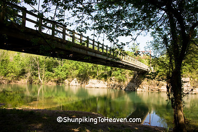 Swinging Bridge, Built 1943, Stone County, Arkansas