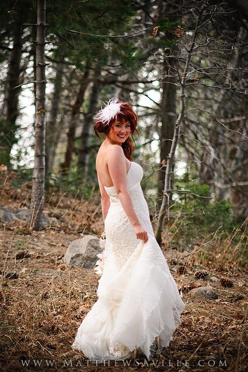Bridal Portrait in Woods