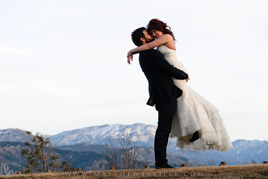 Mountain Wedding Portrait