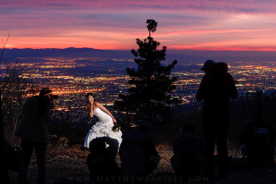 Mountain Sunset Bridal Portrait