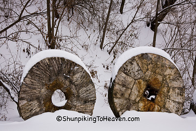 Millstones at Hyde's Mill, Iowa County, Wisconsin