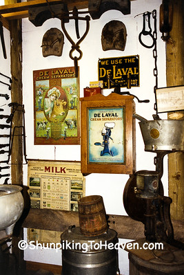 Antique Equipment and Signs at Ted Sawle's Personal Museum, Iowa County, Wisconsin