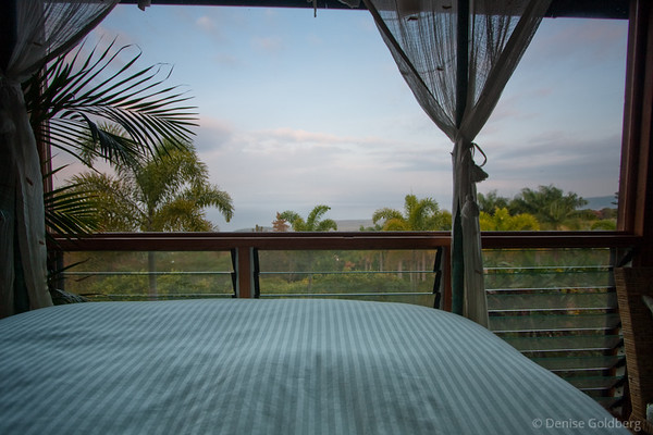 view from bed, the ocean!