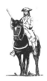 Snapphanene var modige frihetskjemere som slåss mot Svenskene. Mannsbunaden fra Østfold er et godt eksempel på en bunad hvor de vikigste trekke som kjennetegner en millitær uniform er beholdt.