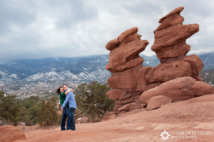 Garden of the Gods engagement portraits