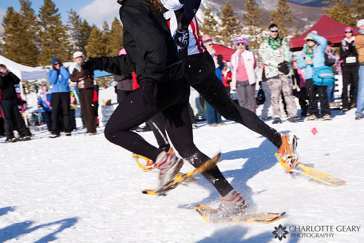 Tubbs Romp to Stomp snowshoe race in Frisco, Colorado