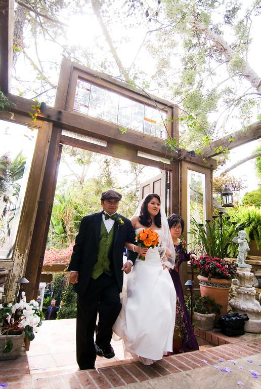 tivoli terrace wedding photo, bride and parents,