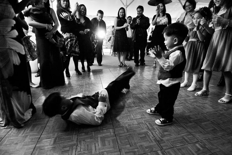 tivoli terrace wedding photo, dance floor, kids dancing,
