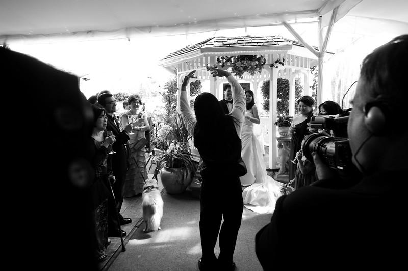 tivoli terrace wedding photo, best man, toasting,