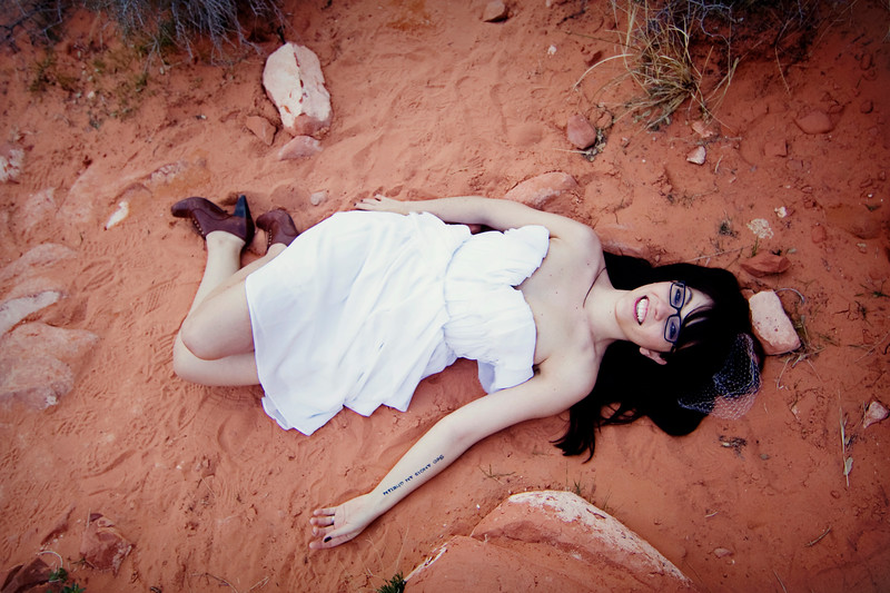 Trash the Dress at Red Rock