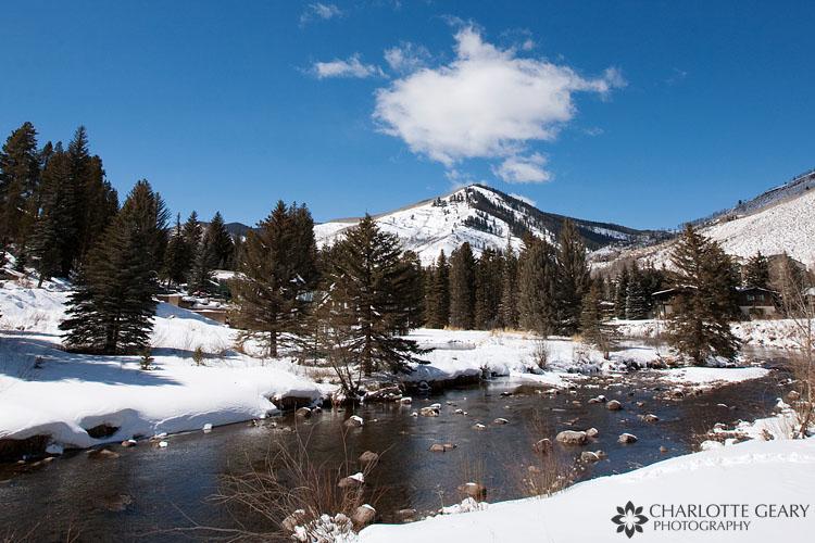 River through Vail, Colorado