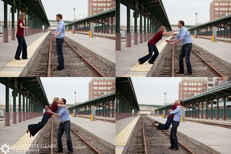 Denver engagement portraits at Union Station