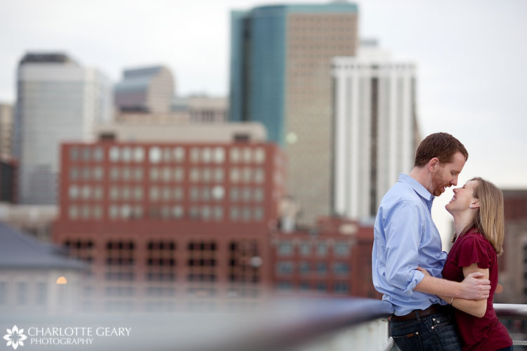 Urban engagement portraits in downtown Denver