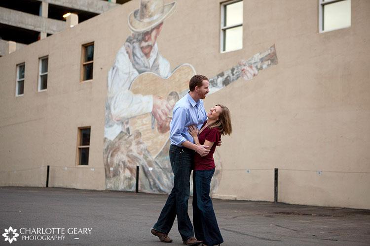 Denver engagement portraits in LoDo
