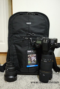 Think Tank Shape Shifter backpack with Nikon D700, Sigma 70-200mm and Nikon 85mm