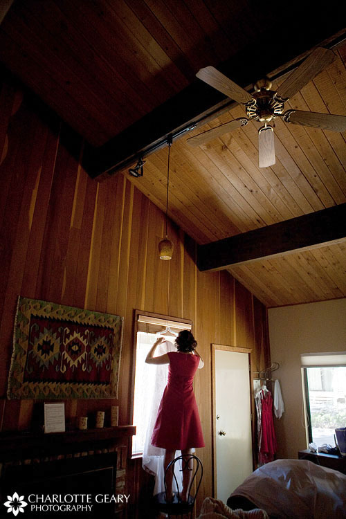 Bridal preparations in a cabin