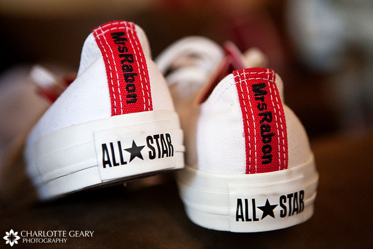 Personalized Converse All-Star sneakers for bride