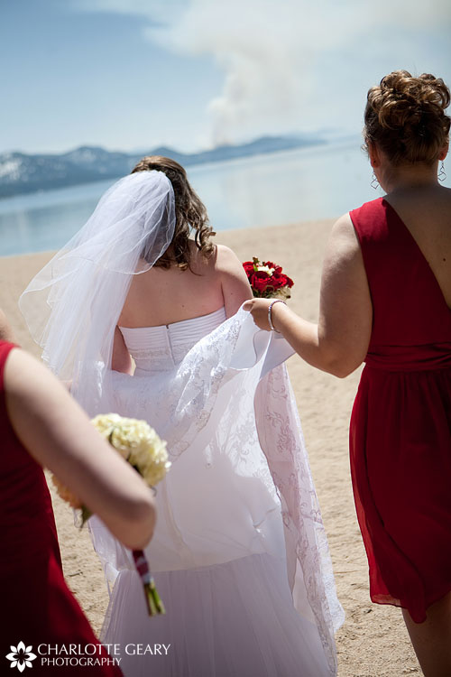 Bride in Incline Village at Lake Tahoe