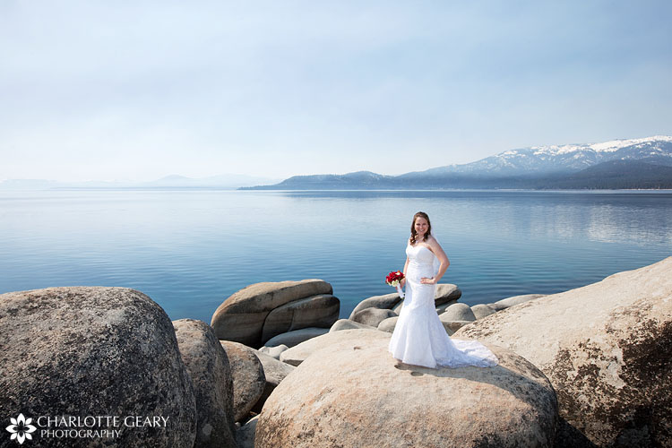 Bride at Memorial Point at Lake Tahoe