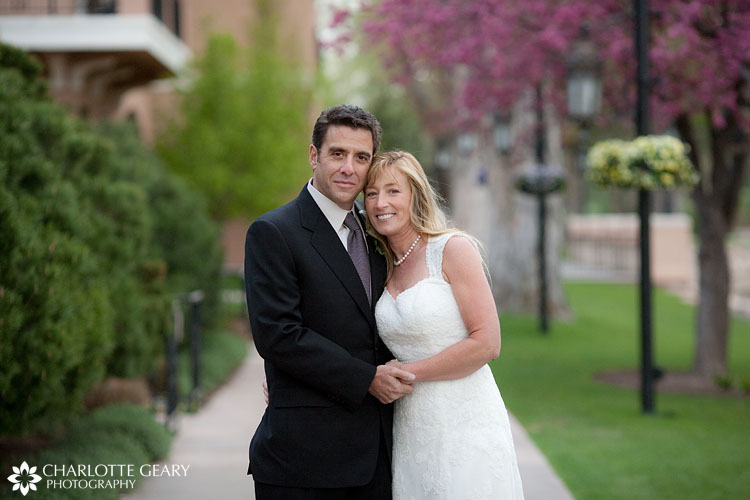 Bride and groom at the Broadmoor