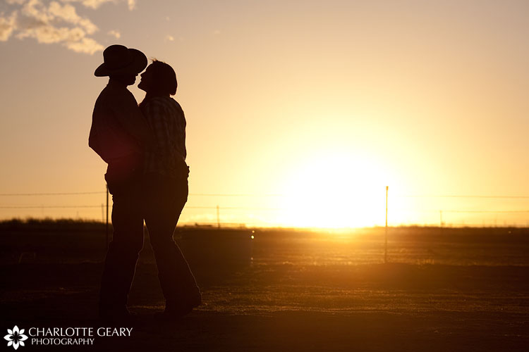 Engagement portrait at sunset