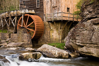 Overshot Waterwheel, Glade Creek Grist Mill, Babcock State Park, Fayette County, West Virginia