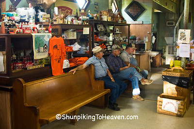 Relaxing at the Moonshine Store, Clark County, Illinois