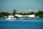 Launch to take visitors to the Arizona Memorial, Pearl Harbor, Hawaii