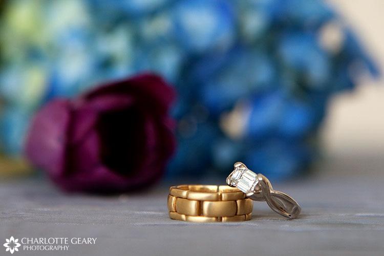 Gold chain wedding band