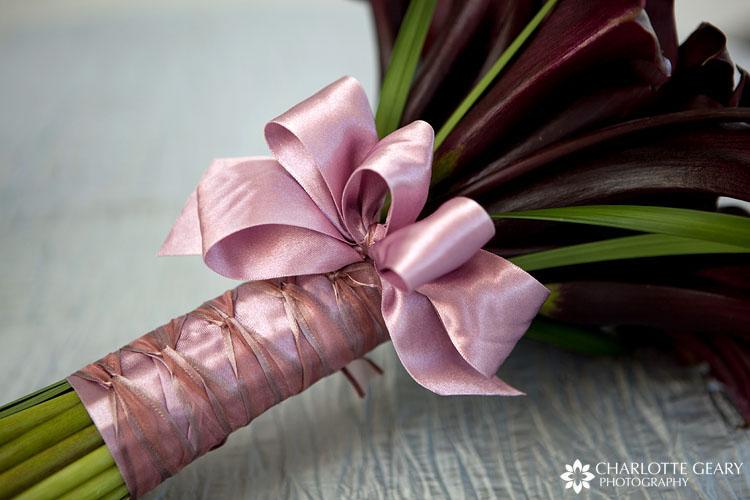 Dark plum calla lily bouquet