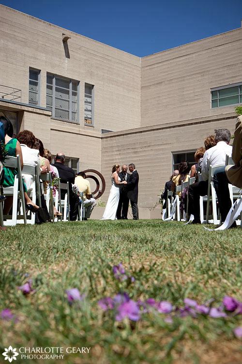 Fine Arts Center wedding ceremony in Colorado Springs