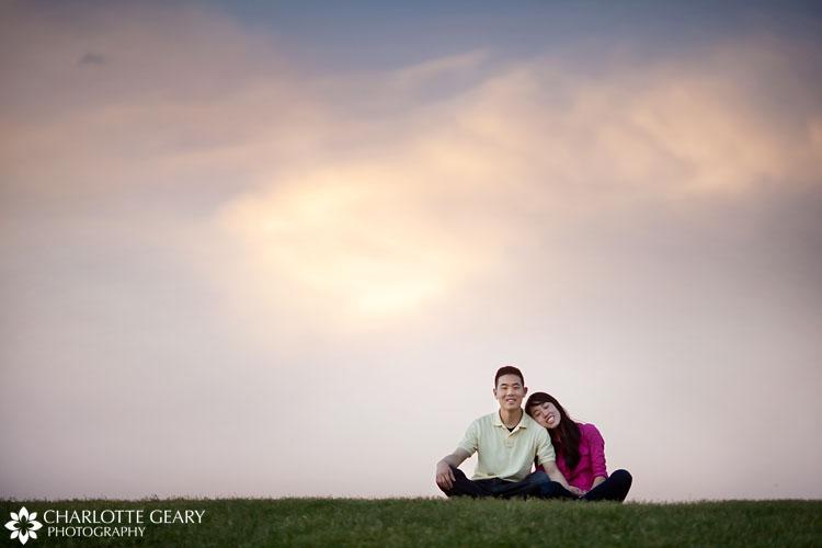 Engagement portrait in downtown Denver