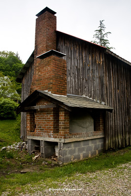 Bread Oven on Repurposed Tobacco Barn, Old Mill of Guilford, Guilford County, North Carolina