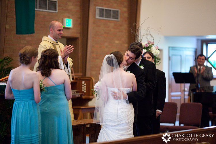 St. Thomas Aquinas church wedding in Boulder