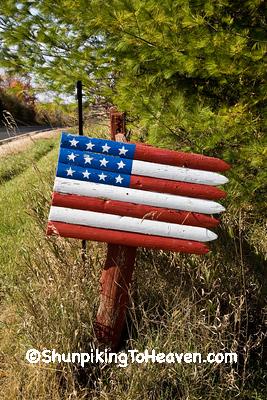 Patriotic Driveway Art, Sheboygan County, Wisconsin