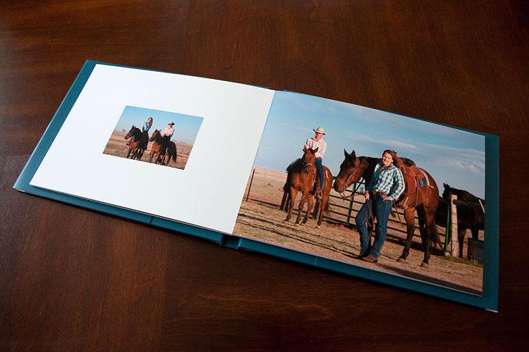 Engagement portrait guestbook