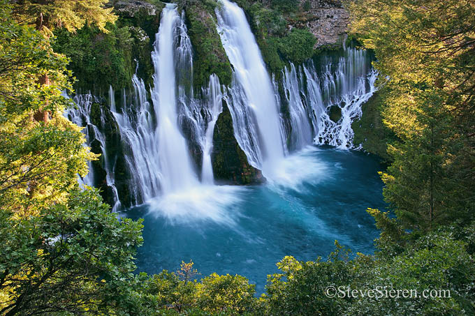 Burney Falls in Northern California is constantly fed by a natural spring.