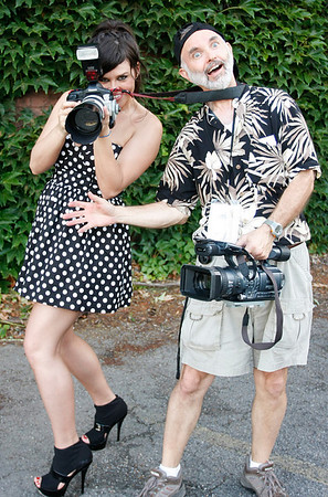 Paul and Deanna goofing off