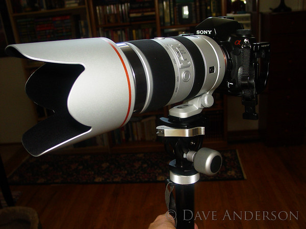 RRS Monopod head with Sony 70-400G