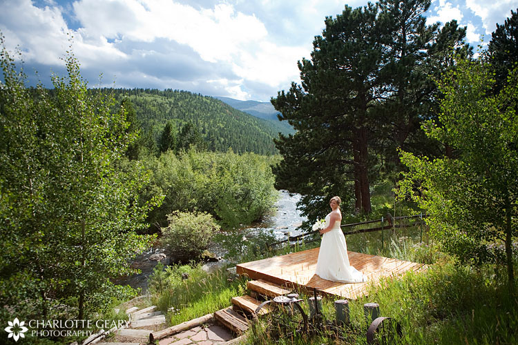 Bride at Wild Basin Lodge