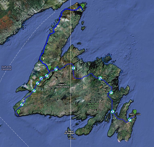 My Route in Newfoundland